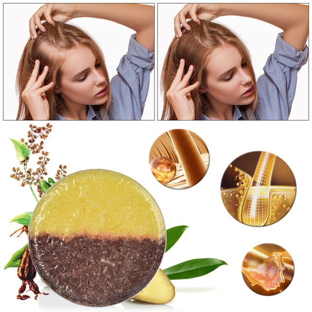 Natural Hair Anti-Hair Loss Shampoo Soap Pure Plant Shampoo Bar Enhance Hair Root Moisturizing Hair Soap Hair Repair Care