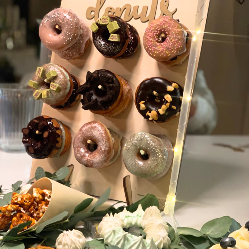 Donut Doughnut Acrylic Stand Wooden Donut Wall Display Board For Birthday Wedding Event Party Table Decor Donut Party Supplies