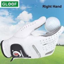 1 шт перчатки для гольфа мужчин кожаные мужские дышащие Нескользящие