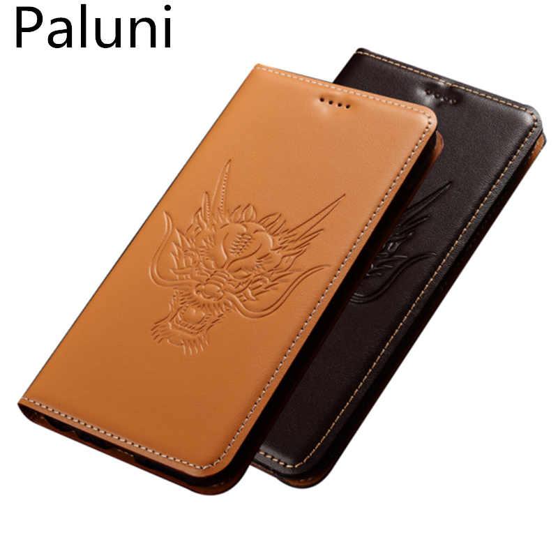 Чехол из натуральной кожи для телефона с держателем карт Xiaomi Redmi 7/Redmi 7A/Redmi S2