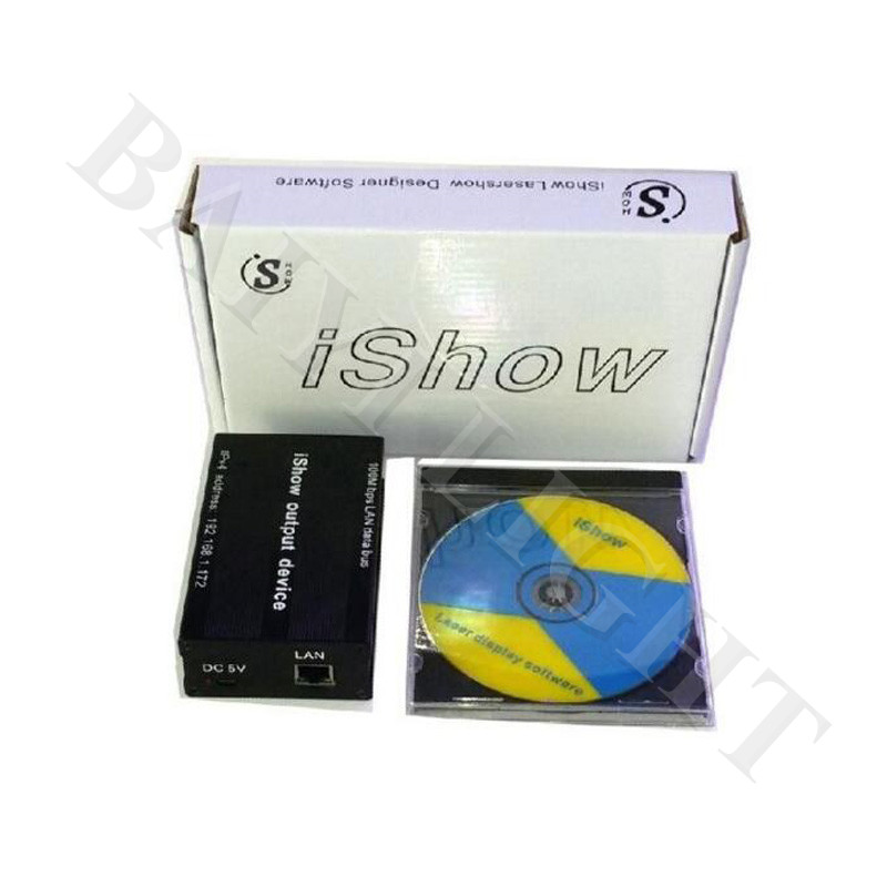 Free Shipping IShow3.0 Laser Show Software PC Laser Controller Laser Software With USB Power Supply ILDA For Laser Lighting