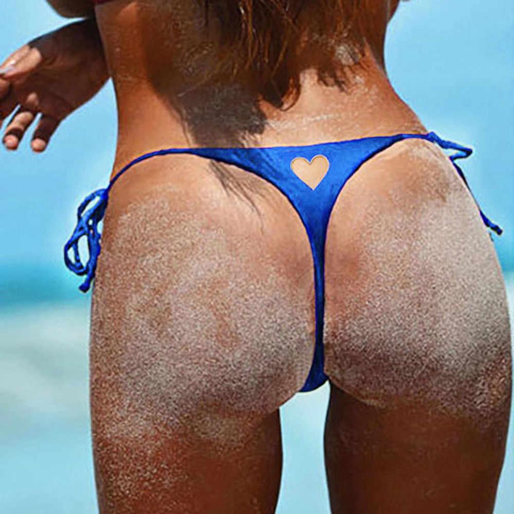 Wanita Swimwear Brasil Nakal Bikini Beachwear Bawah V Nakal Bawah Pantai Thong Mandi Swimsuit Bawah