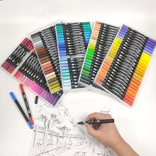 12 120 маркеры ручки с кисточками fineliners акварельные для