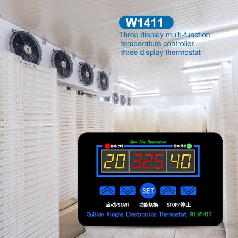 W1411 Digital Temperature Meter Controller Thermostat Regulator Egg Incubator Scope Of Application Greenhouse Cultivation