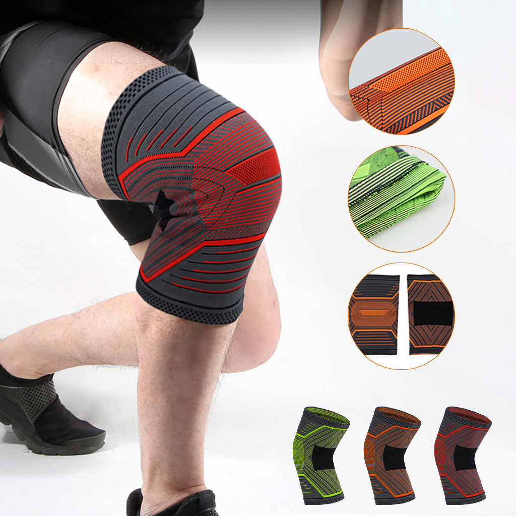1pc Nylon Elastic Sports Knee Pads Breathable Knee Support Brace Running Fitness Hiking Cycling Knee Protector Joelheiras#p1