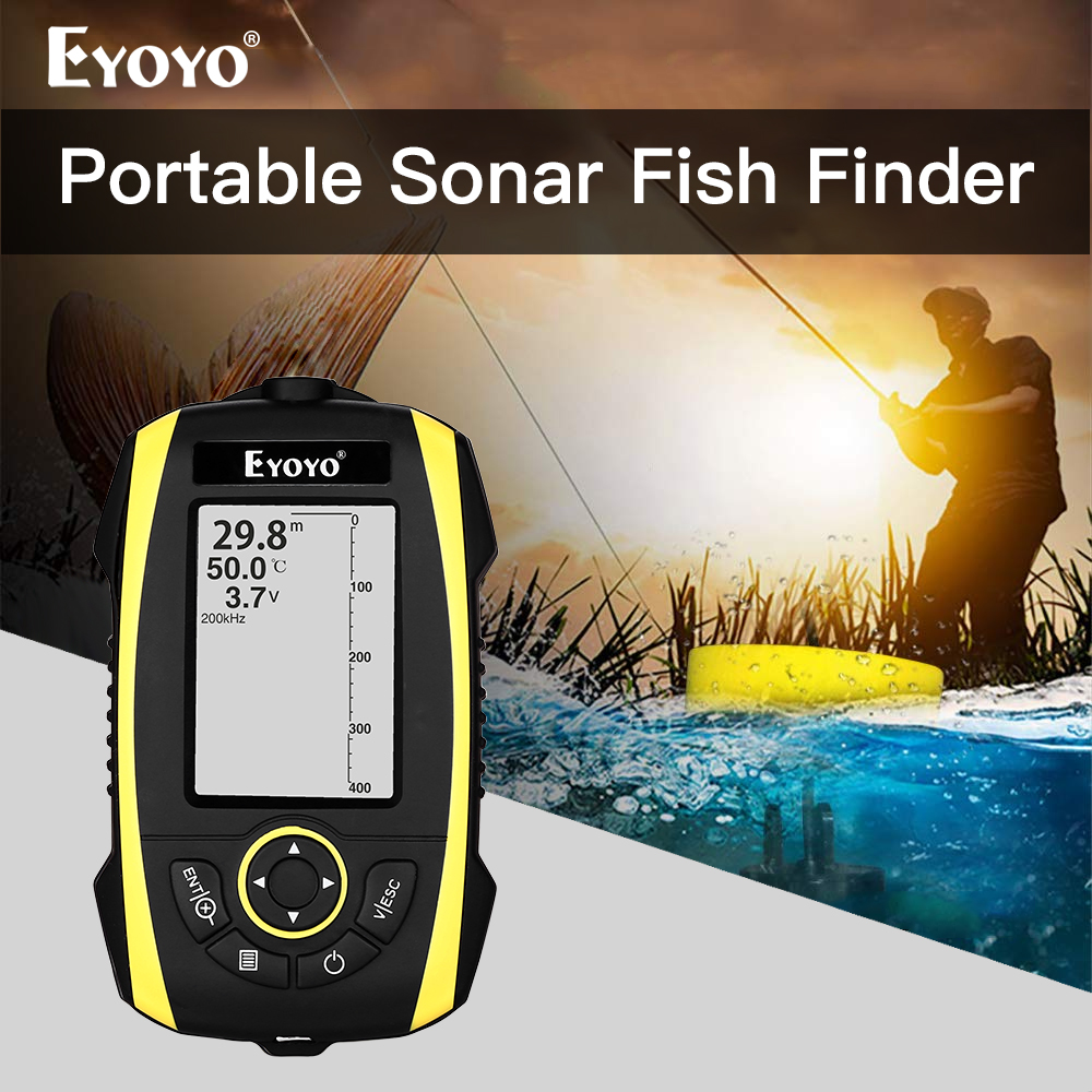 Eyoyo E4 Portable Fish Finder Depth Sonar Sounder echo dounder sonar echolot fischfinder fisch finder deeper smart fishing