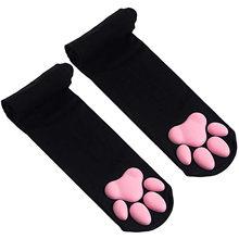 Kawaii 3d gato garra toe beanies meias novas pata para meninas presente meias lolita pawpads cosplay gato pata almofada coxa meias altas