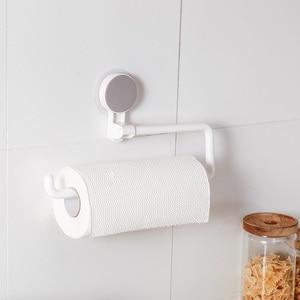 Image 2 - Kitchen Paper Holder Sticke Rack Roll Holder for Bathroom Towel Rack Estanterias Pared Decoracion Tissue Shelf Organizer