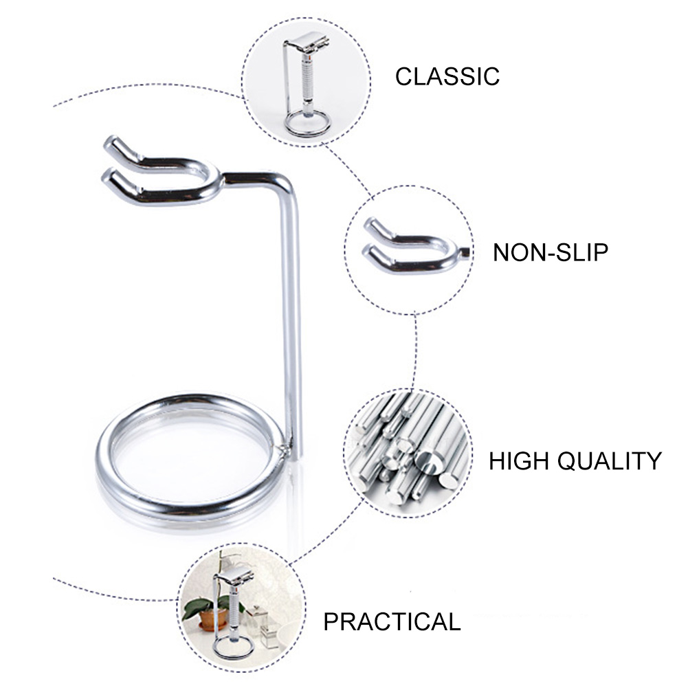 Manual Space Saving Safety Simple Razor Stand Metal Rack Shaver Holder Home Bathroom Storage Double Edge Durable Accessories