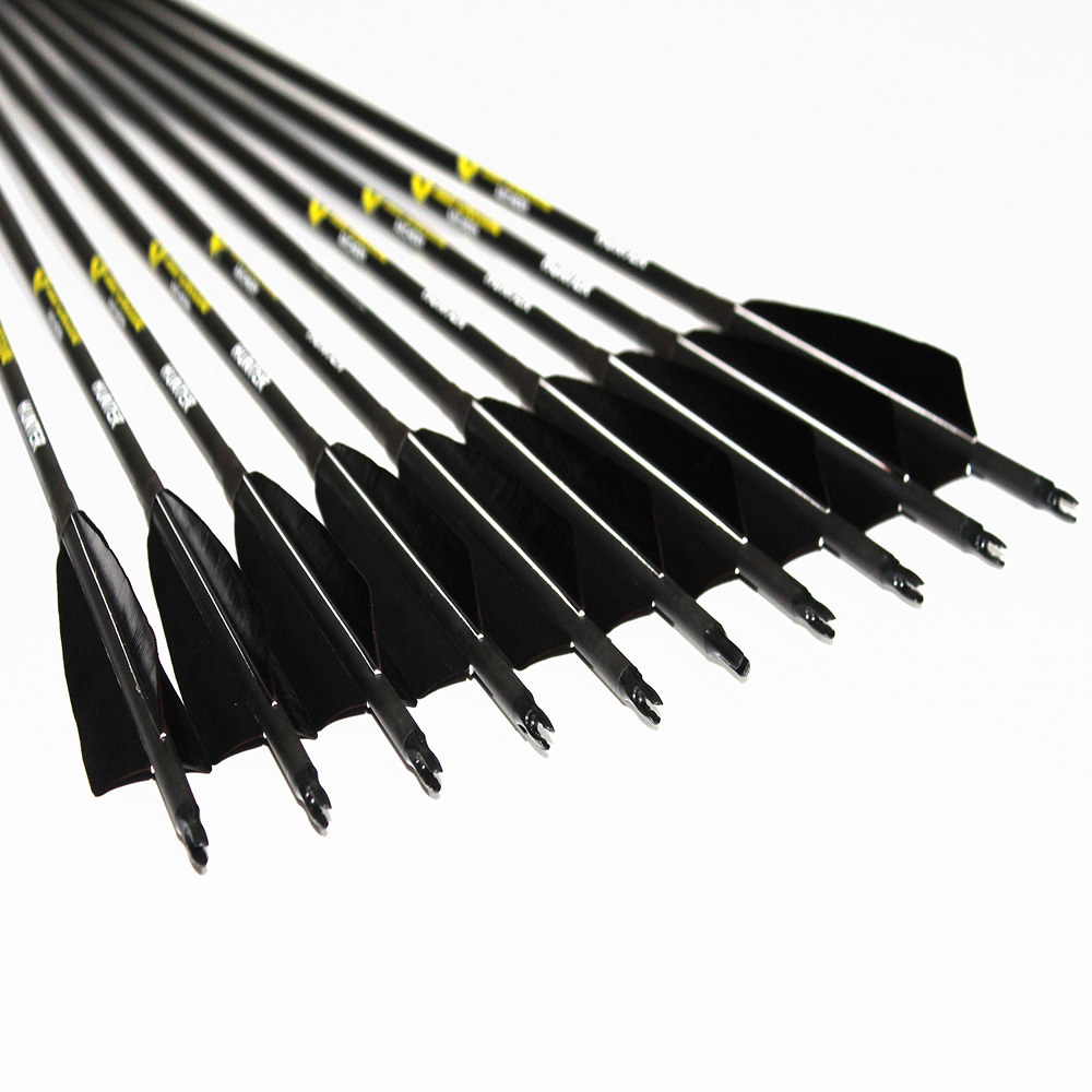 12Pcs  Spine300 340 400 500 600 Carbon Arrow ID6.2mm 5