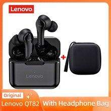 Беспроводные наушники-вкладыши Lenovo QT82 TWS, спортивные водонепроницаемые наушники-вкладыши с защитой от пота, наушники с шумоподавлением