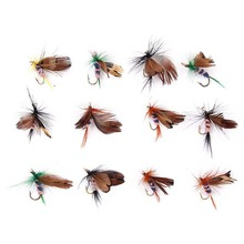 12 pcs Butterfly Design Dry Fly Fishing Bait Hook Accessories