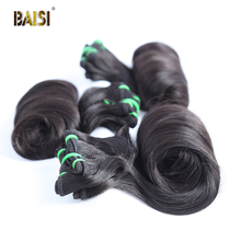 BAISI волосы индийские девственные волосы ткать HairEgg пучки кудрявых волос двойной DrawnHair человеческие волосы 10-20 дюймов