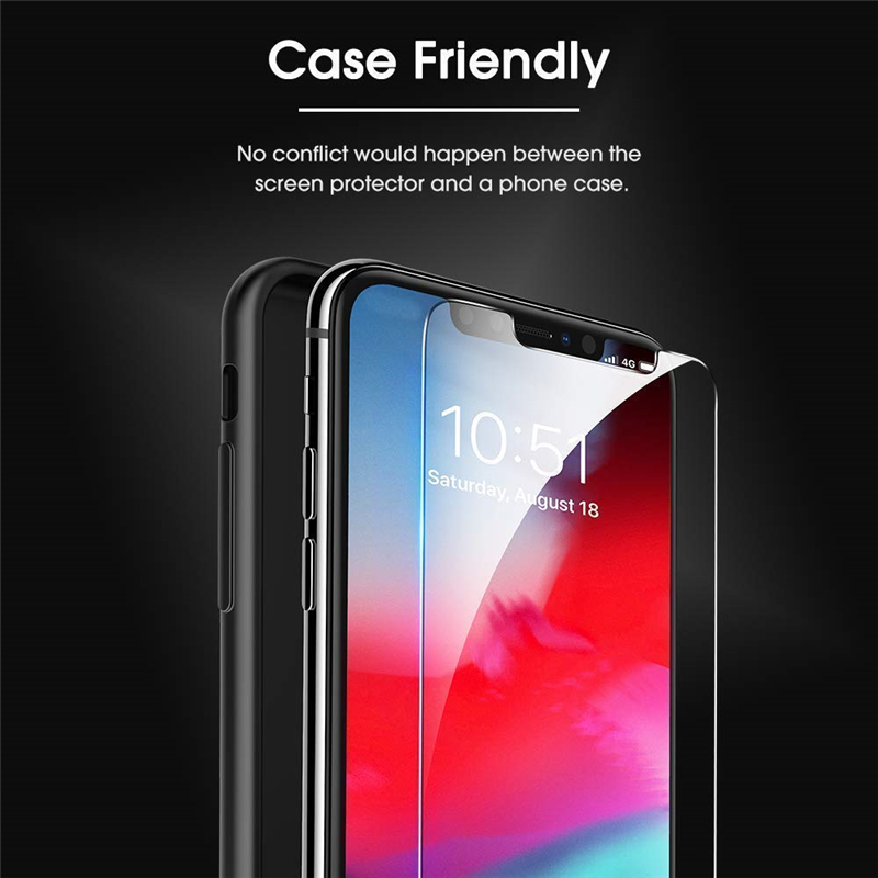3 Pieces Tempered Glass Screen Protector for iPhone 4 5 5s 5c se glass film for iPhone 6s 7 8 Plus XR XS Max glass Protector in Phone Screen Protectors from Cellphones Telecommunications