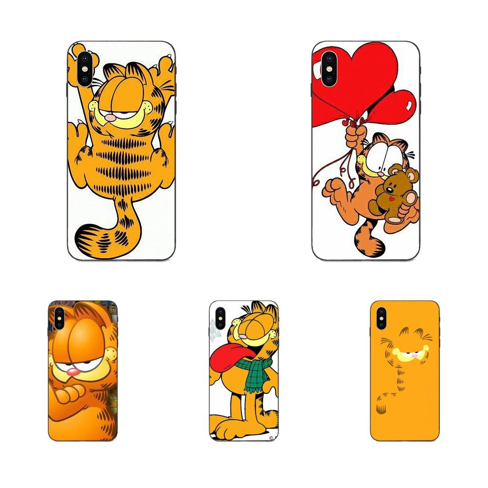 Cute Cartoon Garfield Cat Gif For Apple Iphone X Xs Max Xr 4 4s 5 5s Se 6 6s 7 8 Plus Tpu Wholesale Half Wrapped Cases Aliexpress