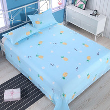 2019 Cotton Polyester Flower Plants Printing Bed Sheets Large Size Tatami Flat Sheet linings Suit Band