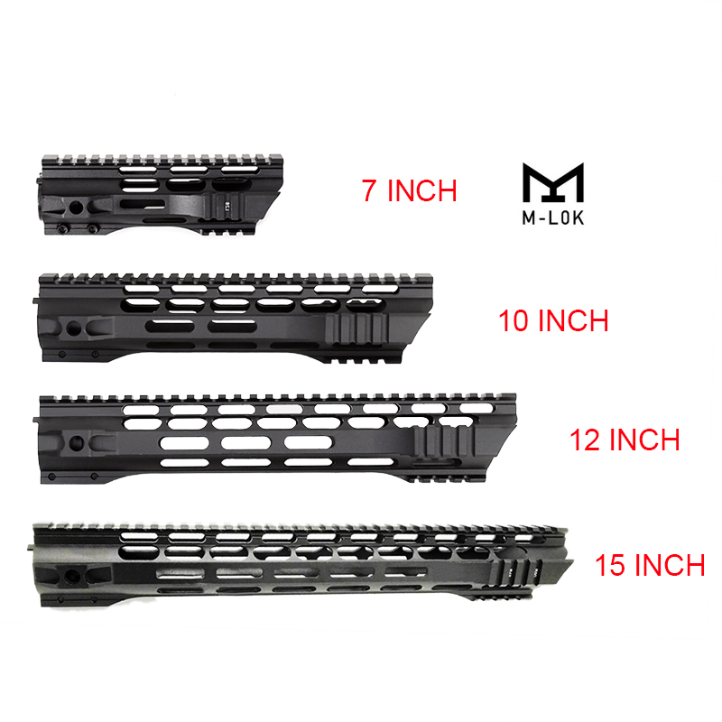 7 10 12 15 Inch AEG M4 M16 AR15 Free Float M-Lock Quad Rail Handguard Picatinny Rail with steel Barrel Nut for Hunting(China)