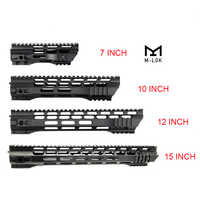 7 10 12 15 pulgadas AEG M4 M16 AR15 flotador libre m-lock Quad Rail Handguard Picatinny Rail con tuerca de barril de acero para caza