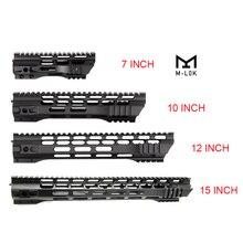 Rail AEG M4 M16 AR15, support de garde mains en forme de verrou m lock avec écrou à canon en acier, 7 10 12 15 pouces, pour la chasse