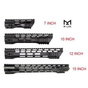 Image 1 - Rail AEG M4 M16 AR15, support de garde mains en forme de verrou m lock avec écrou à canon en acier, 7 10 12 15 pouces, pour la chasse