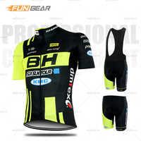 BH Pro Team Radfahren Kleidung Männer Kurzarm Jersey Set MTB Racing Uniform Rennrad Kleidung Trocknen Schnell Ropa Ciclismo maillot
