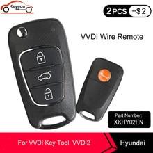 Keyecu Xhorse XKHY02EN Voor Hyundai Type Universal Remote Key Fob 3 Knop Voor Vvdi Key Tool VVDI2 (Engels Versie)