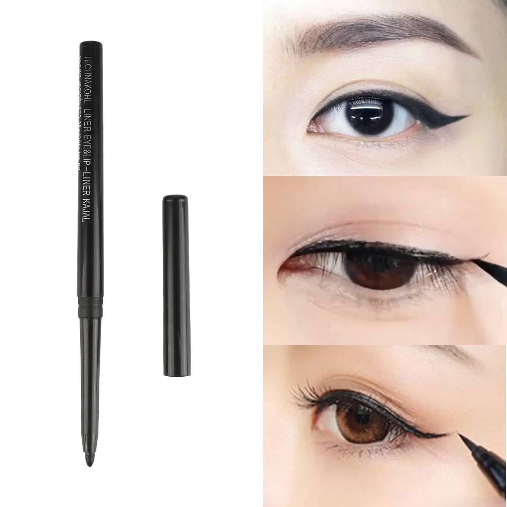 1 Pc Professional Automatic Rotation Eyeliner 24H Lasting Natural Black Eyeliner Pencil Sexy Lady Beauty Makeup Tool TSLM2