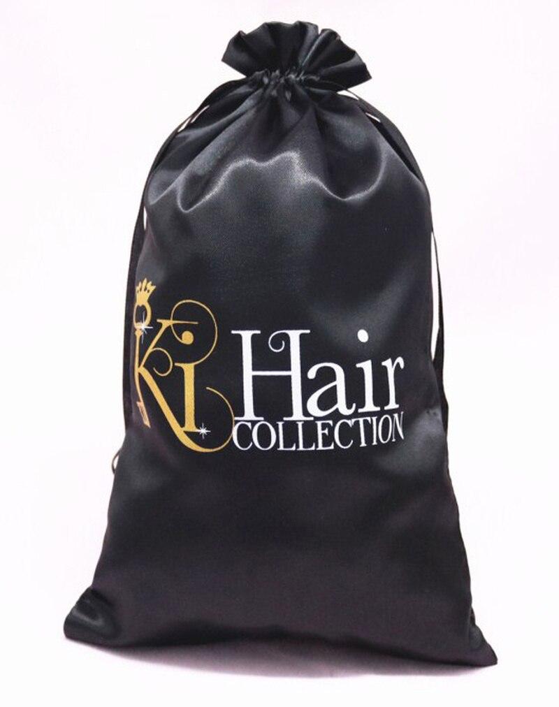 Satin Bag Hair Virgin Drawstring Pouch Packaging Jewelry Makeup Bracelet Ring Watch Wedding Gift Bag Silk Storage Pouches