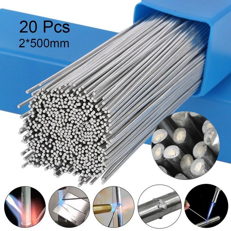 10/20 pces nenhuma necessidade de solda em pó de solda de alumínio haste de solda de solda de baixa temperatura 1.6/2mm haste de solda de alumínio|Arames de solda|   -