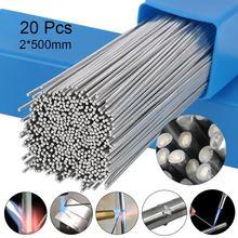 10/20 pces nenhuma necessidade de solda em pó de solda de alumínio haste de solda de solda de baixa temperatura 1.6/2mm haste de solda de alumínio