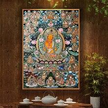 Buda pintura thangka índia religião chinesa estilo impressão em tela cartaz da arte parede fotos para o corredor decoração casa
