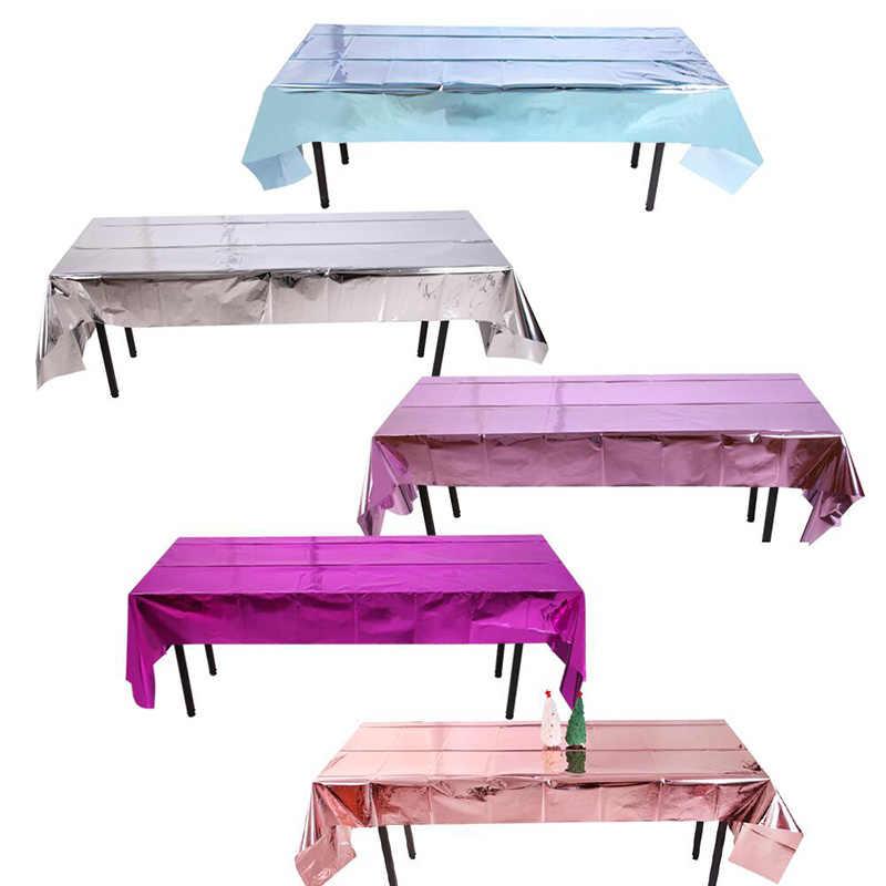 Wasserdicht Glitter Folie Party Rose Gold Tisch Tuch Tisch Abdeckung Rechteckigen Geburtstag Tischdecke Hochzeit Geburtstag Tisch Tuch