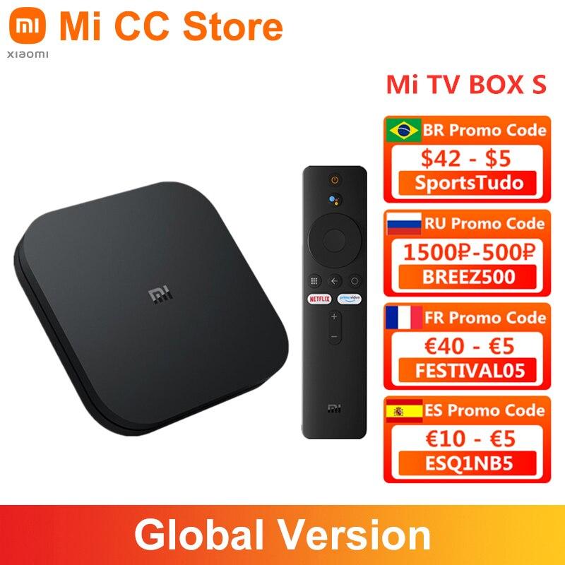 Global Version Xiaomi Mi TV Box S Android TV 9.0 4K Ultra HD 2GB 8GB WiFi IPTV Set Google Assistant Smart MiBox 4 Media Player|Set-top Boxes| - AliExpress