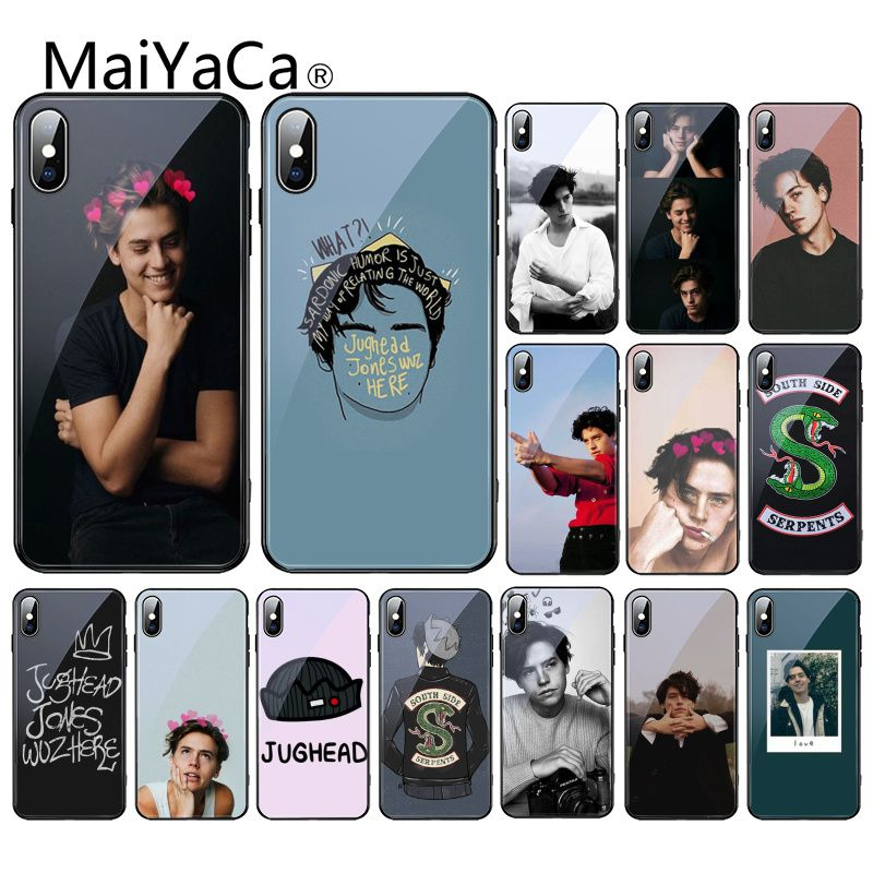 Maiyaca <font><b>tv</b></font> riverdale Jughead <font><b>Jones</b></font> Gehärtetem Glas Telefon Fall Für iPhone 11 Pro XR XS MAX 8X7 6S 6 Plus image