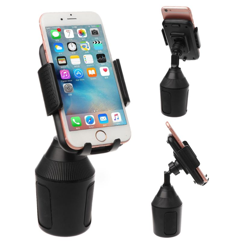 Universal Car Cup Mount Phone Holder Stand Cradle for Apple iPhone Samsung Xiaomi 3.5 to 6.5 inch Android Smartphone image