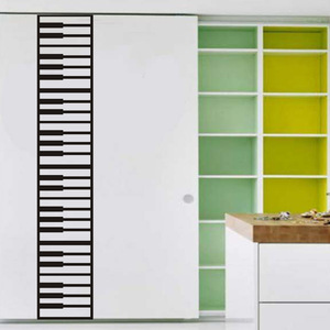 Creative Piano Key Wall Sticker Musical Instrument Music for Piano Room Decoration for Kids Room Art Decals Waterproof PVC