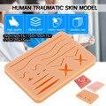 Kit de treinamento de sutura médica pele traumática humana modelo de sutura prática conjunto almofada de treinamento doutor enfermeira recursos de ensino
