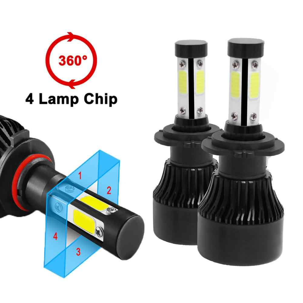 Jeuzn 4 Side Luminous H7 LED Car Headlight 100W 10000LM H4 Bulb 6500K H11 9005 HB3 9006 9004 9007 H13 Turbo Auto Lamps Fog Light