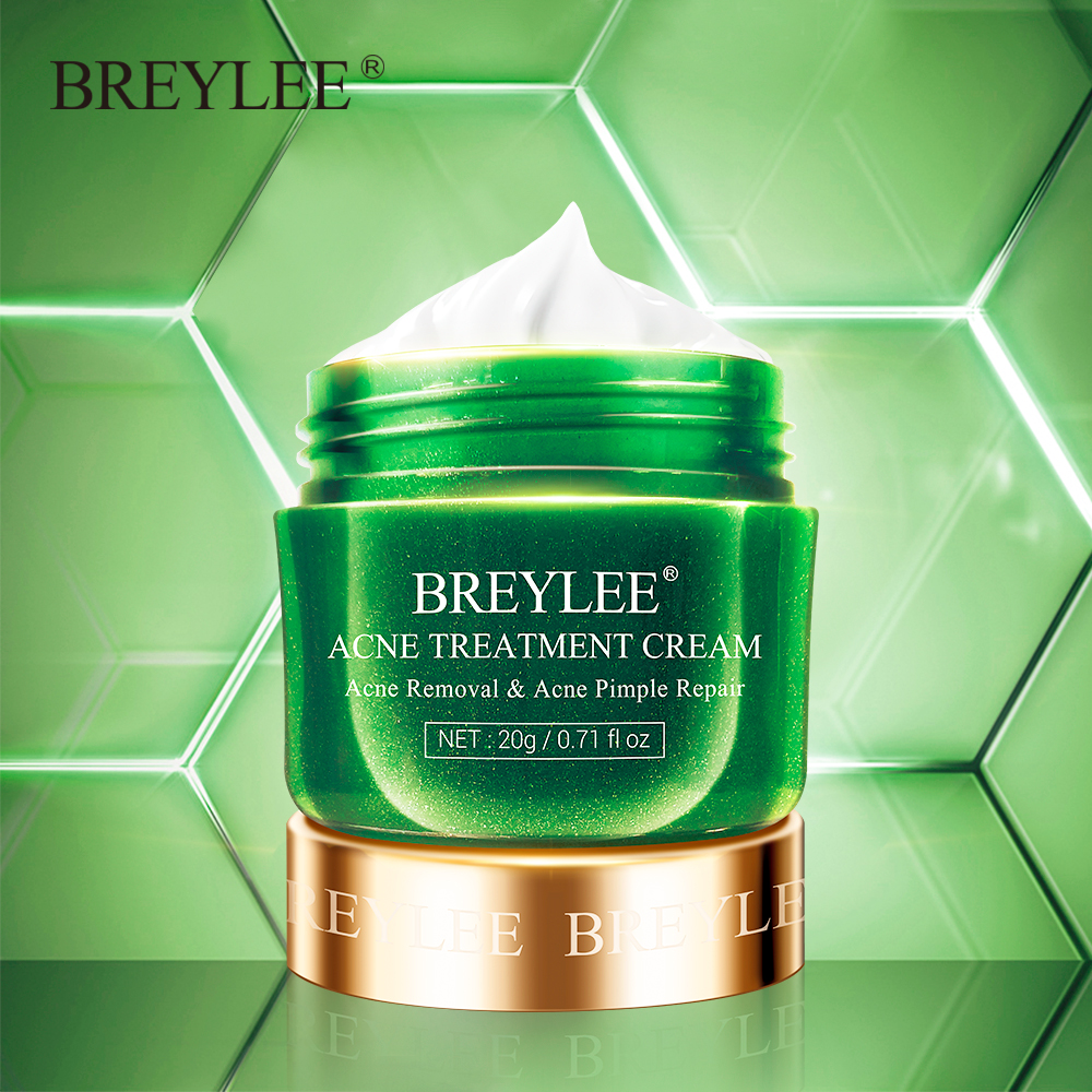 Breylee Acne Treatment Cream Pimple Removal Spots Oil Control Shrink Pores Anti Acne Face Cream Moisturizing Skin Care Serum 20g