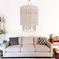 Bohemian Wall Hanging Tapestry Lampshade Frame Art Lamp Chimney Home Decoration