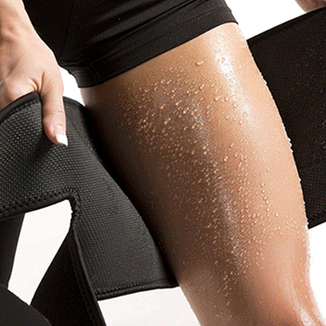 Beauty Leg Shaper Compression Leggings Legs Thermo Neoprene Compress Leg Belt Sweating Slimming Thigh Belts Slimming Burning Fat