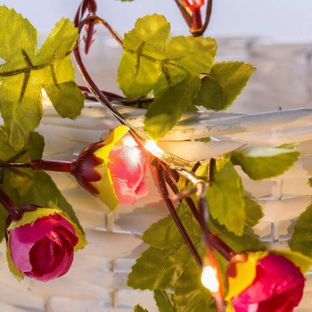 Artificial Leaf & Flowers 20 LED Strip lights