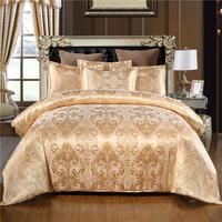 WarmsLiving Luxury Jacquard Bedding set Single Queen King Size Bed Linen Quilt Cover 100% polyester comfortable Duvet Cover Set