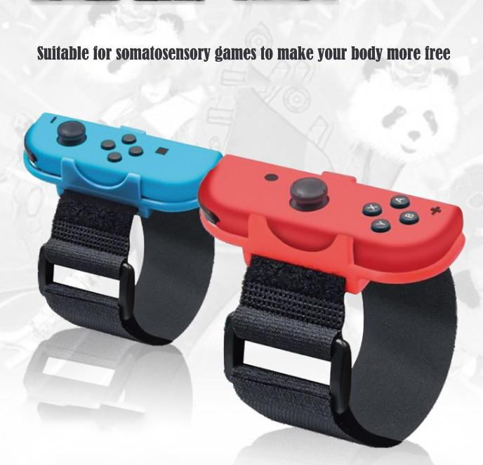 2PCS Game Wrist Band For Iplay Switch For Joy-Con Controller Adjustable Just-dance Wristband Hand Straps Games Accessories