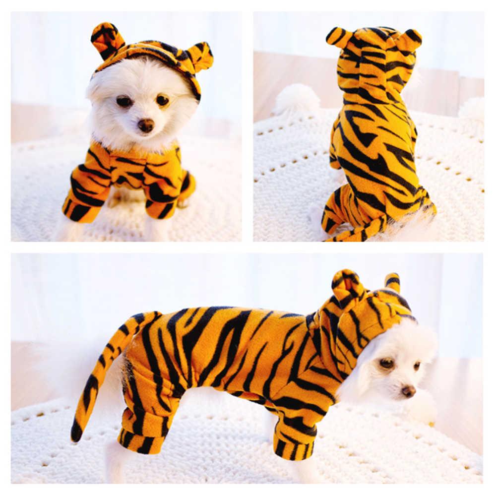 Хлопковая зимняя одежда для косплея с изображением тигра для собак; Одежда для собак в форме тигра; куртка; одежда для щенков; пальто; Chichuchu