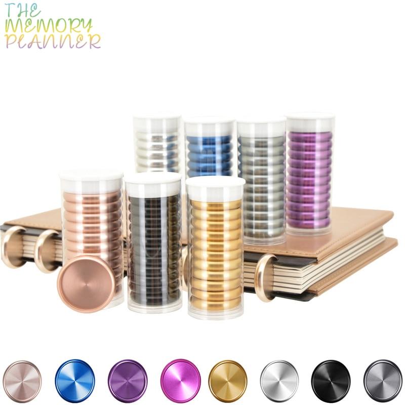 11pcs 38mm Metal Ring Binder Mushroom Hole Loose-leaf Rings Notebook Accessories Binding Ring Metal Disc Binding Planner Rings
