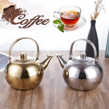Czajniczek do użytku na płycie kuchennej czajniczek czajnik do herbaty ze stali nierdzewnej czajniczek z zaparzaczem czajnik do herbaty do użytku na płycie kuchennej czajnik czajnik z gwizdkiem tanie i dobre opinie CN (pochodzenie) STAINLESS STEEL
