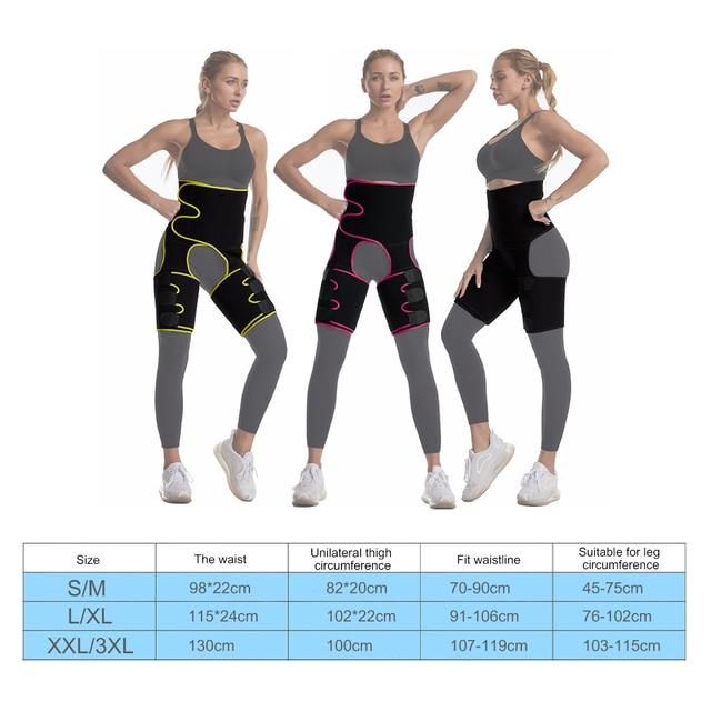 Slim Thigh Trimmer Leg Shaper Waist Trainer Slimming Belt Sweat Shapewear Body shaper Slimming Underwear Waist Shaper Pants 5