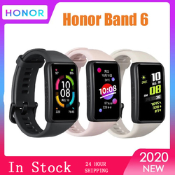 Honor Band 6 Bracelet Smart Watch Band 1.47 inch AMOLED Touch Screen Heart Rate Monitor Amoled Sleep Nap Stress SmartWatch
