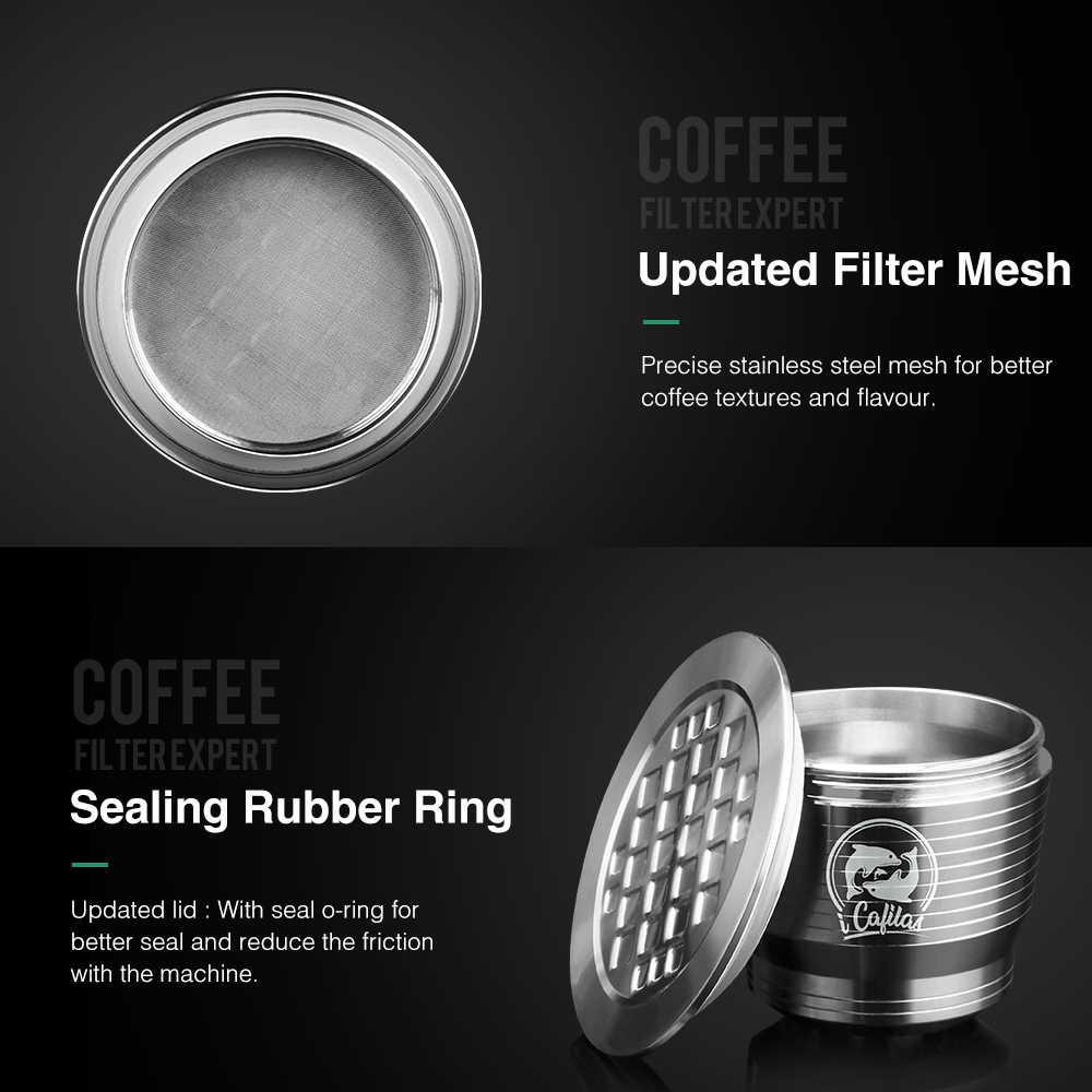 16 piezas de malla de filtro de café Compatible con el diámetro de Metal de acero inoxidable de 27mm cápsulas recargables DIY cafetera